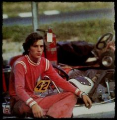 Ayrton Senna - Kart placa 42.