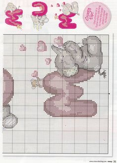 natty's cross stitch corner: animals