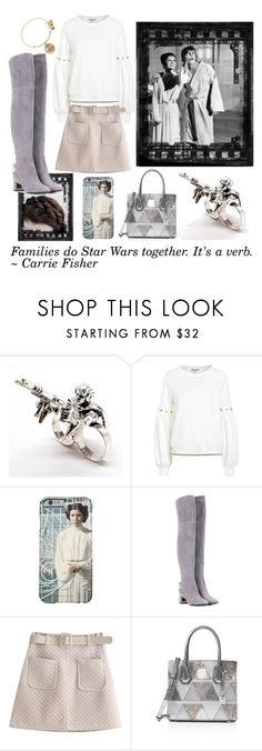 """Princess Leia"" by valiantlaine19 ❤ liked on Polyvore featuring Tory Burch, WithChic, MICHAEL Michael Kors, Alex and Ani, starwarssquad, millenniumfalconofawesomeness, thedisneyprincess and whereartthouluke"