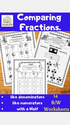 Fraction Activities, Math Games, Math Activities, Math Worksheets, Teaching Fractions, Teaching Math, Elementary Teaching, Upper Elementary Resources, Teaching Resources