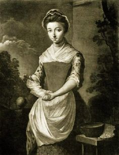 1750-80 Miss White Clear Starcher to the Queen Unknown British artist
