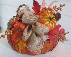 Fall Basket, Thanksgiving Basket, Autumn Basket, Harvest Basket, Pumpkin Basket, Thanksgiving Décor, Fall Décor, Autumn Décor by SilvaLiningDesigns on Etsy