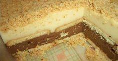 Αυτό το γλυκό το έφτιαχνε η μαμά μου όταν ήμουν μικρή. Τσακωνόμουν με την αδερφή μου ποια θα πάρει τη.. Greek Sweets, Greek Desserts, Greek Recipes, Greek Cake, Cyprus Food, Sweets Cake, Sweets Recipes, Chocolate Recipes, Cooking Time