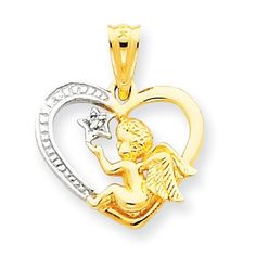 Medal//Pendant measures 3//8 x 1//4 Includes deluxe flip-top gift box 14kt Gold Guardian Angel Medal