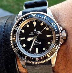Military issue Rolex Submariner. Happy Sunday 'all. . #rolex credit…