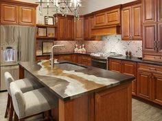 Looking for Traditional Kitchen ideas? Browse Traditional Kitchen images for decor, layout, furniture, and storage inspiration from HGTV. Buy Kitchen, Glass Kitchen, Updated Kitchen, Kitchen Tiles, Kitchen Decor, Basic Kitchen, Cheap Kitchen Countertops, Tile Countertops, Kitchen Cabinets