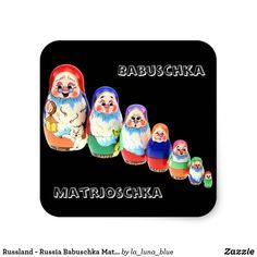 Russland - Russia Babuschka Matrjoschka Aufkleber Blue, Accessories, Matryoshka Doll, Russia, Decals, Random Stuff, Puppets, Birthday, Presents