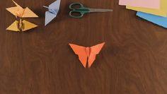 Como Hacer una Mariposa en Origami | eHow en Español