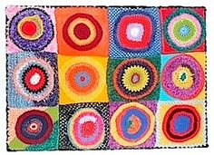 color study by kandinsky in crochet -  from roundup of Masterpieces created in crochet