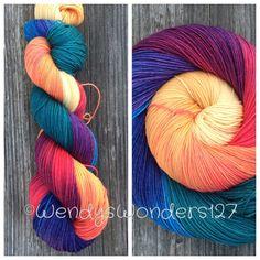 Hand Dyed Yarn Sock Yarn Fingering Weight Yarn by WendysWonders127