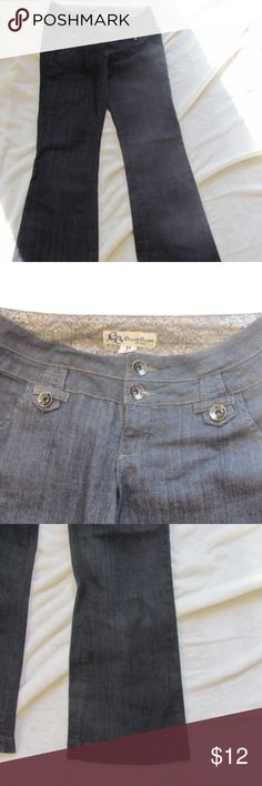 BOOM BOOM WOMEN'S JEANS SIZE 11 BOOM BOOM WOMEN'S JEAN SIZE 11 ZIPPER BUTTONS 75% COTTON 24 % POLYESTER 1% SPANDEX BOOM BOOM Jeans