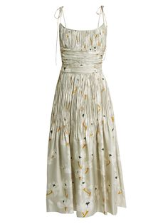 Click here to buy Brock Collection Didier pleated silk dress at MATCHESFASHION.COM