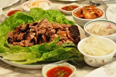 How to make Korean Bossam with David Chang's Momofuku Recipe. A traditional Korean dish of roasted or boiled pork shoulder with kimchee, lettuce, and rice.