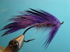 A purple rabbit strip Steelhead Matuka (The Benchside Fly Tyer)