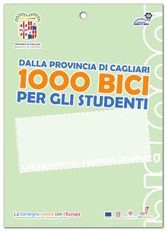 """""""1000 bici"""", l'iniziativa della Provincia di Cagliari che metterà a disposizione degli studenti 1000 biciclette e li coinvolgerà in due OST (Open Space Technology) sulla mobilità ciclabile.  Il progetto prevede la sperimentazione dell'utilizzo delle biciclette per il percorso casa-scuola (o stazione-scuola) durante l'anno scolastico e accademico 2014-2015.  #ProgettazionePartecipata su @marraiafura"""