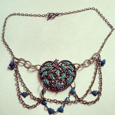 Valentine Frenzy Continues Never Let Me Go  Turquoise draping silver chain by ZacharyPryor, $34.00