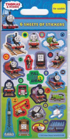 Thomas The Tank Engine Party Bag Stickers, pack of 6 sheets: Amazon.co.uk: Toys & Games