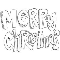 Merry Christmas coloring page. Feel free to save and print out for your little elves!