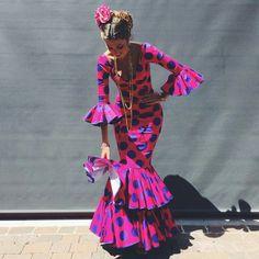 Flamenca dress for the Feria de Abril in Seville, Spain