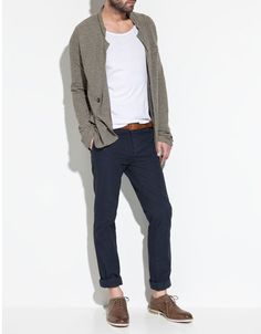 I really like the pant's fitting, the shoes and the cardigan is nice... #menswear #style