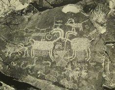 Coso Range [CA], petroglyph, bighorn sheep.
