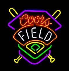 Coors Field Neon Beer Sign