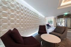 KAZA Concrete tiles for Russell Square House by Stiff + Trevillion