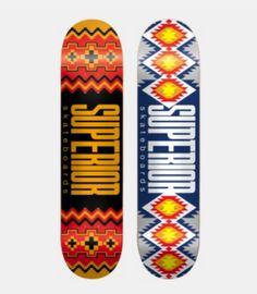 Superior skateboard graphics
