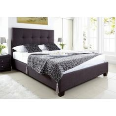 Kaydian // Kaydian Walkworth Ottoman Storage Bed - Slate Fabric - $499.00