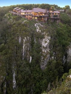 The Fernery Lodge and Chalets affords breathtaking views of the Tsitsikamma coastline and surrounding mountains East Cape, Ferns, Safari, Places To Go, Africa, Tours, River, Mountains, Garden