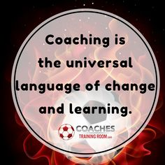 Coaching is the universal language of change and learning. Free Soccer Coaching Awareness Ebook: http://coachestrainingroom.com/ebook  #coachestrainingroom #ayso #youthsoccer #coachingsoccer #soccerdrill #soccerdrills #soccercoaches #nikesoccer #nscaa #youthcoach #kidssoccer #ussoccer #uswnt #usmnt #barclays #soccertraining #soccerplan #soccerplans #soccersession #soccersessions #coachinglife