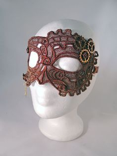 Selfmade Steampunk lace mask. Available at my stores:  http://www.etsy.com/shop/NinielChan  www.deaddollsshop.de