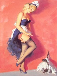 Publisher Brown & Bigelow - Bill Medcalf pin-up picture