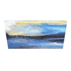 #beauty - #Blue Yellow Beach Abstract Canvas Print
