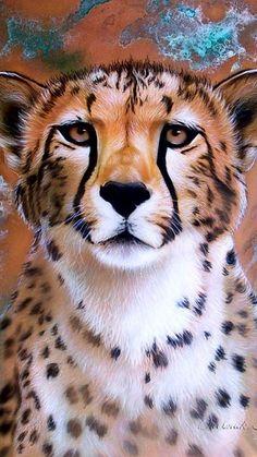 Color y pintura Cheetah Drawing, Lion Drawing, Animal Paintings, Animal Drawings, Cheetah Cartoon, Funny Lion, Cheetah Cubs, Scratchboard Art, Horse Wall Art
