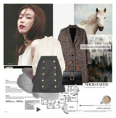"""Let's create a beautiful day.[I'm Back]"" by rainie-minnie ❤ liked on Polyvore featuring Neil Barrett, Pierre Balmain, Dolce&Gabbana, Gucci and WithChic"