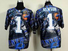 Nike Carolina Panthers 1 Cam Newton elite Fanatical 2016 Super Bowl 50 Jersey 32.5$