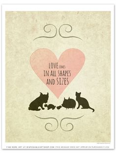 "Free Printable Art of the Week (6/11/14 - 6/18/14): ""Love All Shapes"""