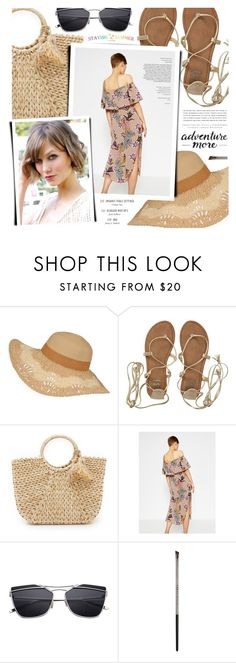 """""""Untitled #1628"""" by noviii ❤ liked on Polyvore featuring Billabong, Hat Attack, Monday, Kerr® and Urban Decay"""