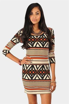 Rory #Tribal #Sweater #Dress <3 Get 8% cash back http://www.studentrate.com/itp/get-itp-student-deals/Necessary-Clothing-Student-Discount--/0