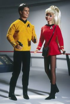 Looking for the Barbie and Ken Anniversary Star Trek Set? Immerse yourself in Barbie history by visiting the official Barbie Signature Gallery today! Star Wars, Star Trek Tos, Barbie Und Ken, Barbie Dolls, Barbie Collector, The Collector, Star Trek Series, Ken Doll, And So The Adventure Begins