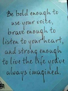 the life you've imagined...