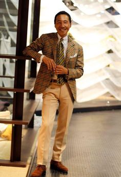 The Dandy in the Picture : Yasuto Kamoshita The style icon, well-known and well-dressed Kamoshita in Liverano & Liverano, Gaziano & Girling