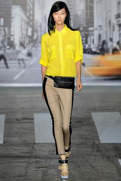 DKNY show in NY shades of yellow with a neutral palette after such a bright 2012! This pant is also a must!