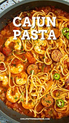 This fast Sausage and Shrimp Cajun Pasta makes your weeknight cooking easy with this bold and flavorful meal. Your family will want it on regular rotation.