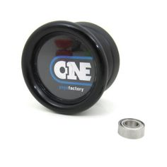 YoYoFactory One Yo-Yo - Black with Spec Bearing by YoYoFactory. $8.10. The goal with the YoYoFactory One was to create a yo-yo that is basic and easy to understand and use, a solid performer and that sells at a phenomenal price point. We think YYF succeeded on all counts! The One offers a comfortable butterfly shape, a variety of colors to choose from, silicone response, ball bearing performance and interchangeable caps. The all-new 2012 edition of the version of the One with spa...