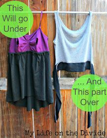 How to rafashion an maternity tank into a nursing top   This is an easy top to make out of a few items you probably have laying around. B...