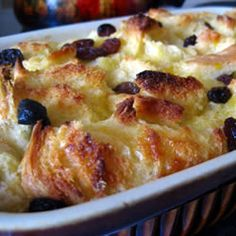 Bread Pudding II Allrecipes.com. I mixed some of this recipe, with some of the other recipe for bread pudding on my board, along with some of my own substitutions/additions/tweaking... So good!