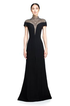 Tadashi Shoji Blue Womens Beaded V Neck Evening Gown Long Formal Dress Size 14 (L) - Tradesy Black And Blue Dress, Black Gowns, Mode Costume, Size 14 Dresses, Blue Formal Dresses, Club Dresses, Party Dresses, Fantasy Dress, The Dress