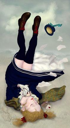 Ray Caesar Alice finds her heart's desire Adventures In Wonderland, Alice In Wonderland, Illustrations, Illustration Art, Photography Illustration, Ray Caesar, Gottfried Helnwein, Foto 3d, Silkscreen
